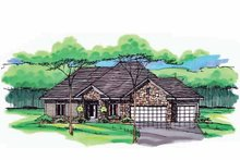 European Exterior - Front Elevation Plan #51-995