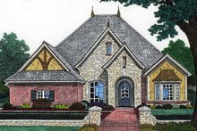 Home Plan - Classical Exterior - Front Elevation Plan #310-1200
