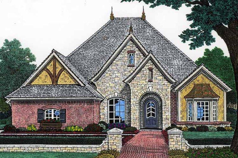 Classical Exterior - Front Elevation Plan #310-1200 - Houseplans.com