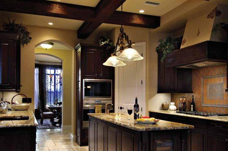 Mediterranean Interior - Kitchen Plan #930-428 - Houseplans.com
