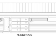 Home Plan - Modern Exterior - Rear Elevation Plan #932-358