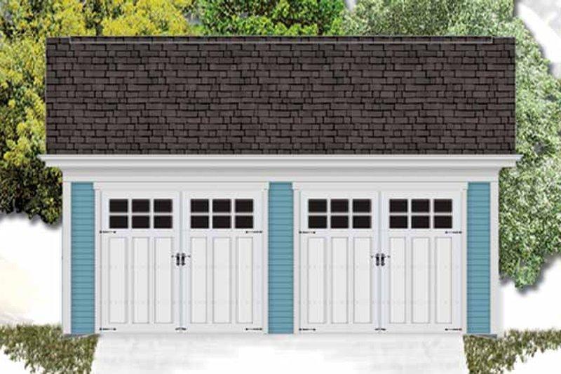 Exterior - Front Elevation Plan #306-130 - Houseplans.com