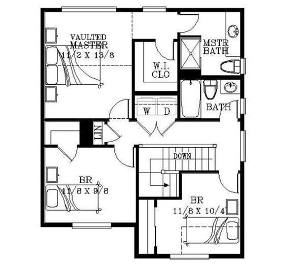 Bungalow Floor Plan - Upper Floor Plan Plan #53-416