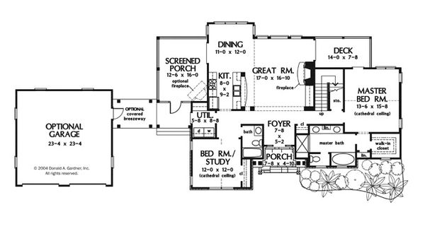 Craftsman Floor Plan - Main Floor Plan Plan #929-943