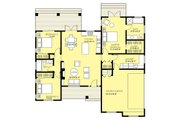 Ranch Style House Plan - 3 Beds 2 Baths 1403 Sq/Ft Plan #18-9547 Floor Plan - Main Floor Plan