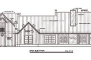 Country Style House Plan - 4 Beds 3.5 Baths 2830 Sq/Ft Plan #140-104 Exterior - Rear Elevation
