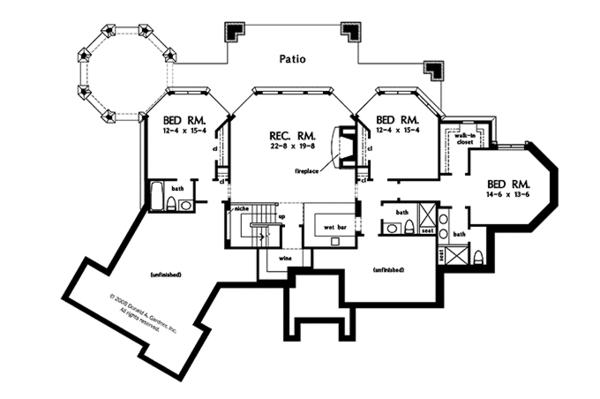 European Floor Plan - Lower Floor Plan Plan #929-896