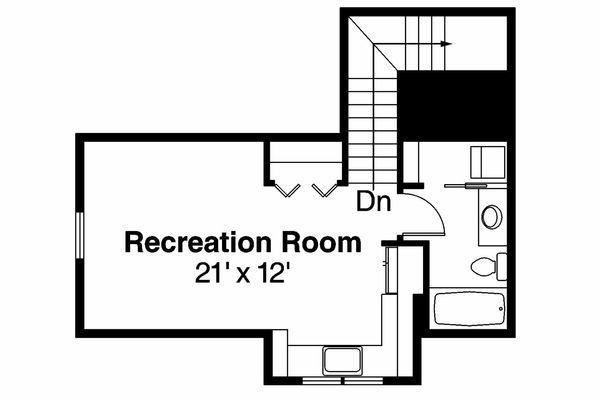 Mediterranean Floor Plan - Other Floor Plan Plan #124-903