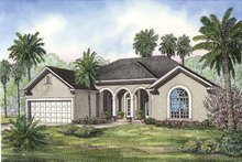 Home Plan - European Exterior - Front Elevation Plan #17-3237