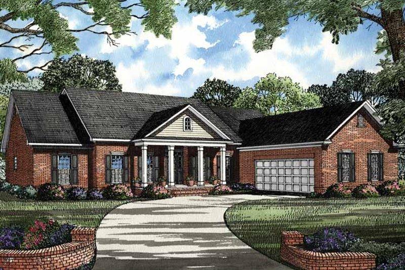 Classical Exterior - Front Elevation Plan #17-3017 - Houseplans.com