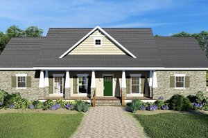 Craftsman Exterior - Front Elevation Plan #44-241
