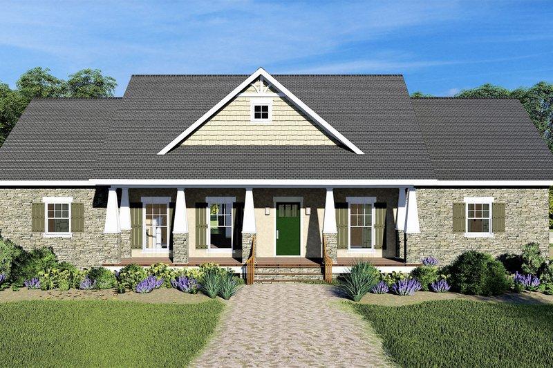 Dream House Plan - Craftsman Exterior - Front Elevation Plan #44-241