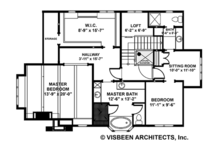 Craftsman Floor Plan - Upper Floor Plan Plan #928-282