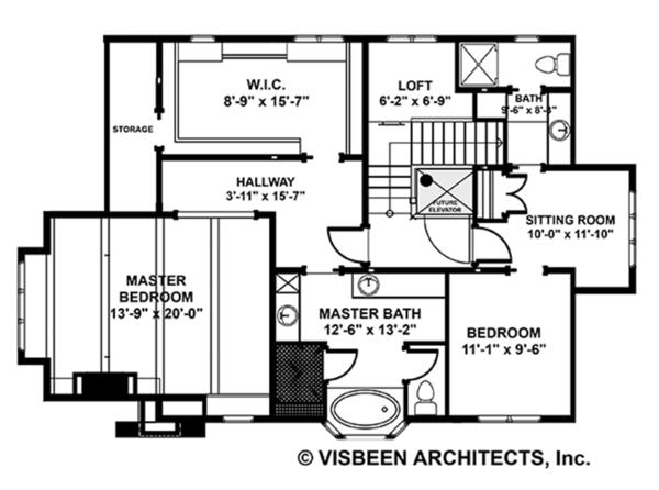 Craftsman Floor Plan - Upper Floor Plan #928-282