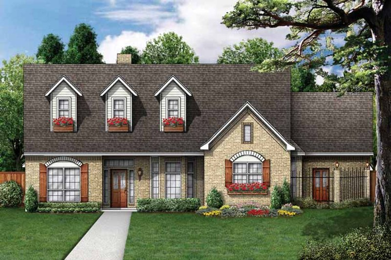 Colonial Exterior - Front Elevation Plan #84-705