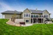 Ranch Style House Plan - 4 Beds 4 Baths 2609 Sq/Ft Plan #70-1501 Exterior - Rear Elevation