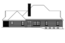 Ranch Exterior - Rear Elevation Plan #57-627