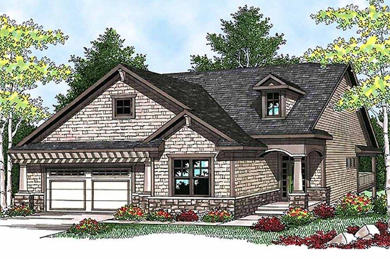Craftsman Exterior - Front Elevation Plan #70-912