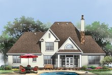 Architectural House Design - Country Exterior - Rear Elevation Plan #929-926