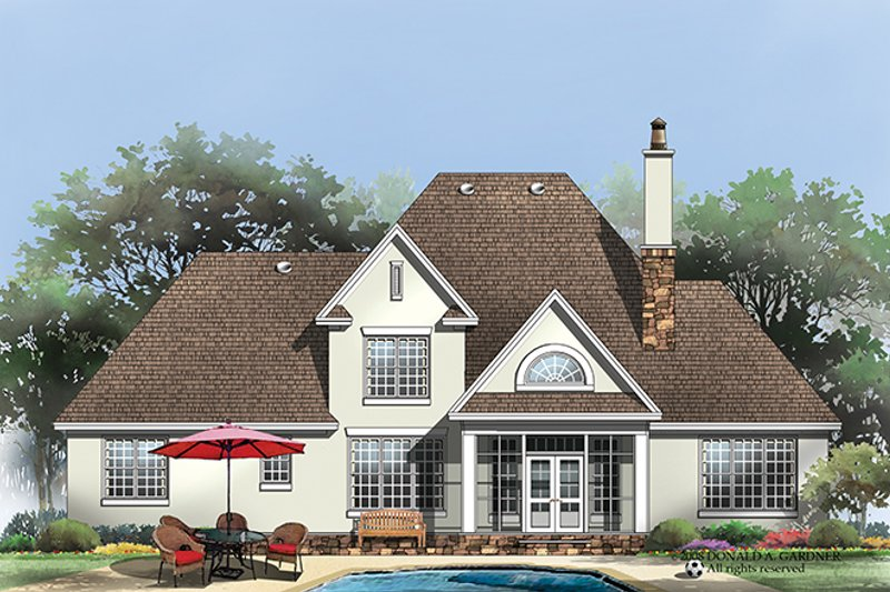 Country Exterior - Rear Elevation Plan #929-926 - Houseplans.com