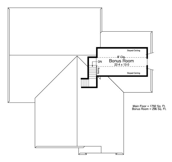 Traditional Floor Plan - Other Floor Plan Plan #51-485