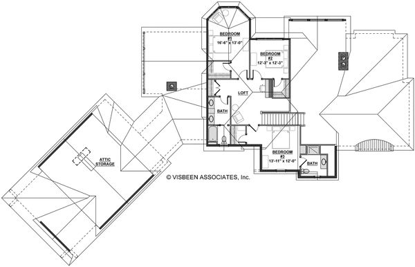 European Floor Plan - Upper Floor Plan Plan #928-8