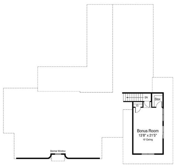 Cottage Floor Plan - Upper Floor Plan Plan #938-86