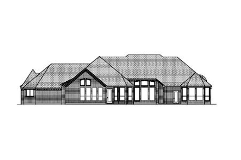 European Exterior - Rear Elevation Plan #84-426 - Houseplans.com