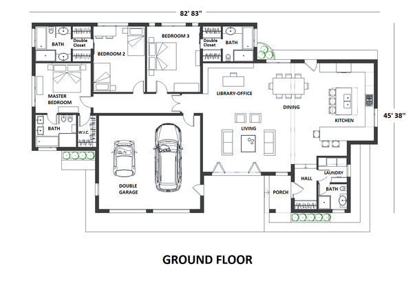 Contemporary Floor Plan - Main Floor Plan Plan #542-18