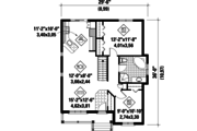 Country Style House Plan - 2 Beds 1 Baths 953 Sq/Ft Plan #25-4533 Floor Plan - Main Floor