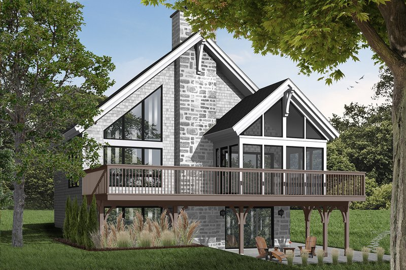 House Plan - 3 Beds 2 Baths 2243 Sq/Ft Plan #23-597 Exterior - Front Elevation