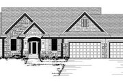 European Style House Plan - 3 Beds 2 Baths 1632 Sq/Ft Plan #51-240 Exterior - Front Elevation