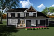 Craftsman Style House Plan - 3 Beds 2.5 Baths 2681 Sq/Ft Plan #70-1279 Exterior - Rear Elevation