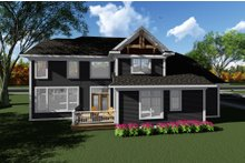 Craftsman Exterior - Rear Elevation Plan #70-1279