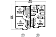 Contemporary Style House Plan - 5 Beds 2 Baths 2421 Sq/Ft Plan #25-4353 Floor Plan - Upper Floor Plan