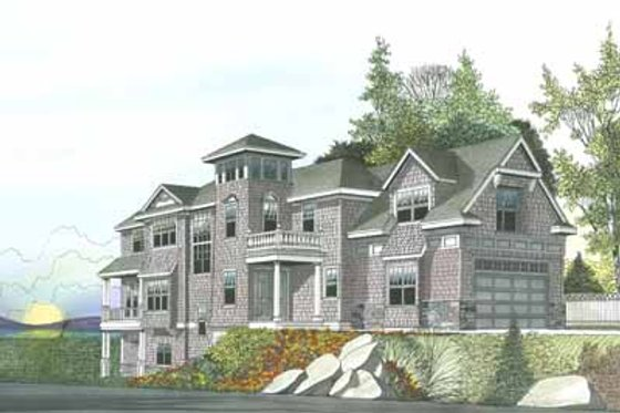 Beach Exterior - Front Elevation Plan #103-206