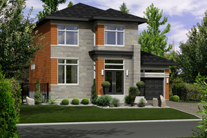 House Plan Design - Contemporary Exterior - Front Elevation Plan #25-4266