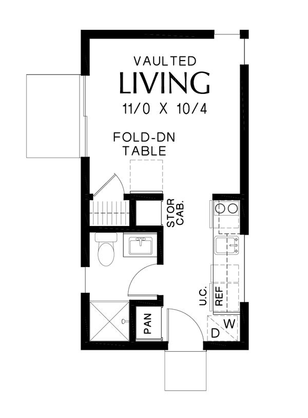 Contemporary Floor Plan - Main Floor Plan Plan #48-1025