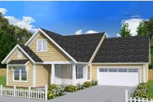 Country Exterior - Front Elevation Plan #513-2095