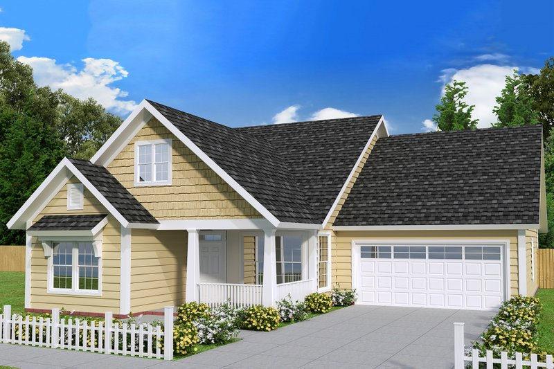 Architectural House Design - Country Exterior - Front Elevation Plan #513-2095