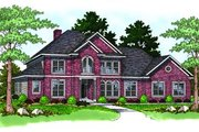 Traditional Style House Plan - 4 Beds 3.5 Baths 3325 Sq/Ft Plan #70-506 Exterior - Front Elevation
