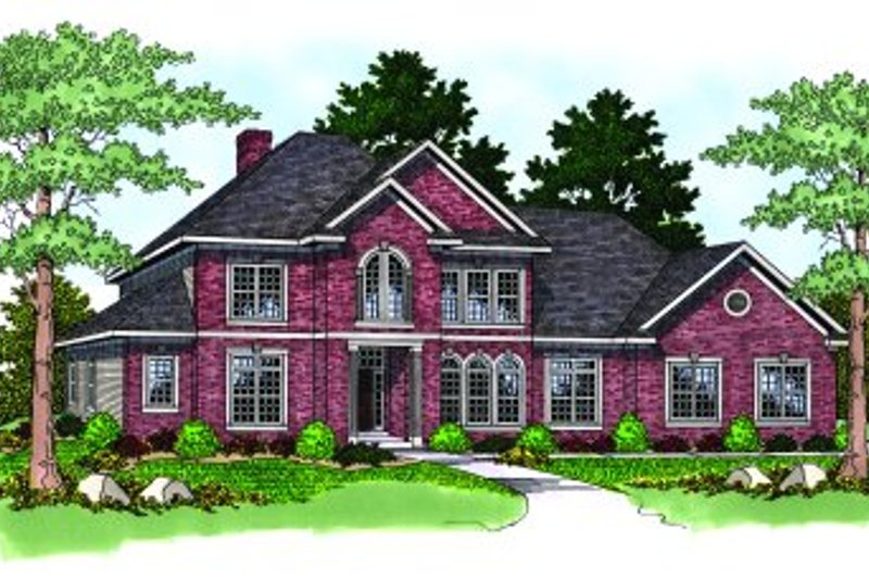 Dream House Plan - Traditional Exterior - Front Elevation Plan #70-506