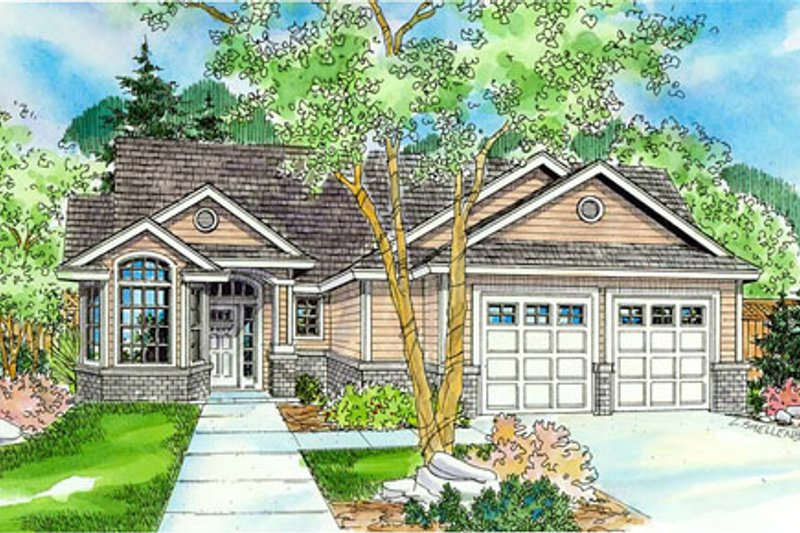 Exterior - Front Elevation Plan #124-756