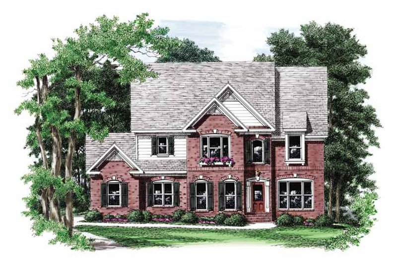 Colonial Exterior - Front Elevation Plan #927-848