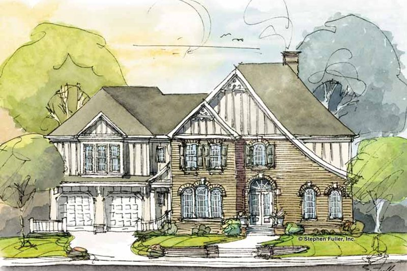 Country Exterior - Front Elevation Plan #429-295 - Houseplans.com