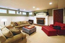 Colonial Interior - Family Room Plan #928-97