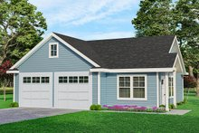 Dream House Plan - Traditional Exterior - Front Elevation Plan #124-790