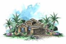Architectural House Design - Mediterranean Exterior - Front Elevation Plan #1017-80