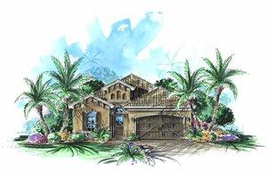 House Design - Mediterranean Exterior - Front Elevation Plan #1017-80