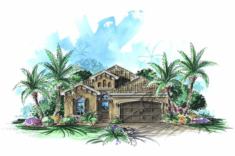 Dream House Plan - Mediterranean Exterior - Front Elevation Plan #1017-80